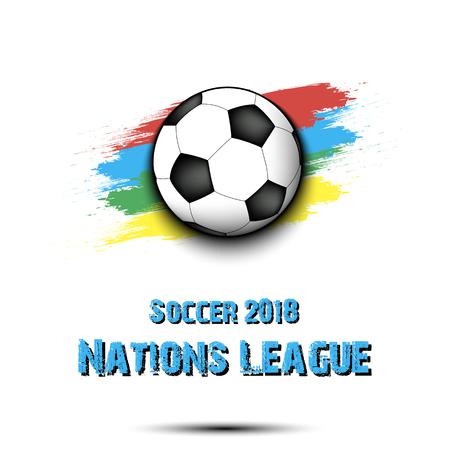 Soccer tournament 2018. Football logo template design. Vector illustration