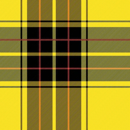 Tartan pattern. Scottish cage. Scottish yellow checkered background. Scottish plaid in yellow colors. Lowercase fabric texture. Vector illustration