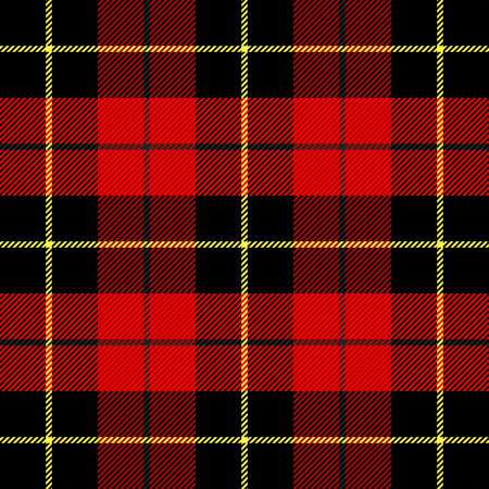 Wallace tartan plaid. Scottish cage. Scottish checkered background. Clan Wallace. Traditional scottish ornament. Scottish pattern in classic colors. Seamless fabric texture. Vector illustration Çizim