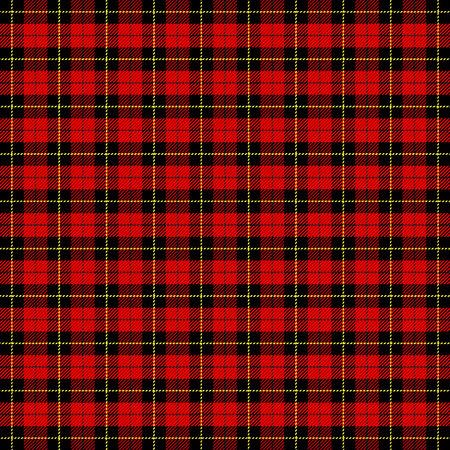 Plaid scozzese Wallace. Gabbia scozzese. Sfondo a scacchi scozzese. Clan Wallace. Ornamento scozzese tradizionale. Fantasia scozzese in colori classici. Trama del tessuto senza soluzione di continuità. Illustrazione vettoriale