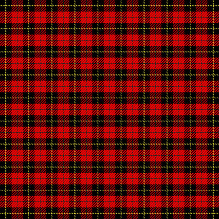 Wallace tartan plaid. Scottish cage. Scottish checkered background. Clan Wallace. Traditional scottish ornament. Tartan pattern in classic colors. Seamless fabric texture. Vector illustration