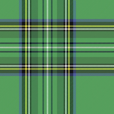 Tartan pattern. Scottish cage. Scottish checkered background. Traditional scottish ornament. Scottish plaid in classic colors. Seamless fabric texture. Vector illustration