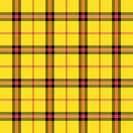 Tartan pattern. Scottish cage. Scottish yellow checkered background. Scottish plaid in yellow colors. Seamless fabric texture.. Vector illustration