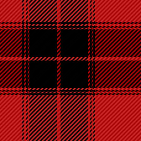 Tartan pattern. Gabardine fabric. Scottish cage. Scottish red and white checkered background. Scottish plaid in red and white tones. Vector illustration