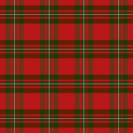 MacGregor Tartan pattern. Scottish cage. Scottish checkered background. Traditional scottish ornament. Scottish plaid in classic colors. Seamless fabric texture. Vector illustration Illustration