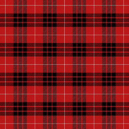 Munro Tartan pattern. Scottish cage. Scottish checkered background. Traditional scottish ornament. Scottish plaid in classic colors. Seamless fabric texture. Vector illustration Illustration