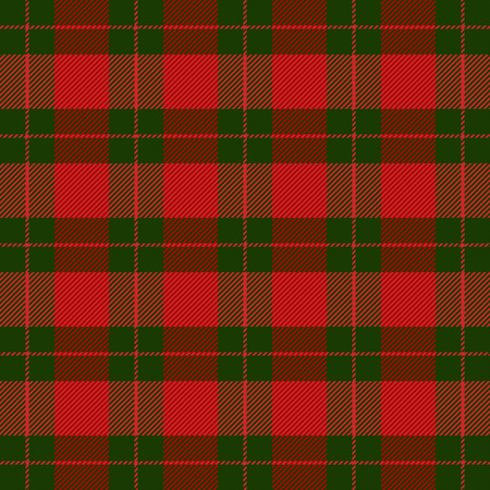 Plaid tartan de Noël et du nouvel an. Motif écossais en cage verte et rouge. Cage écossaise. Fond quadrillé écossais traditionnel. Texture de tissu sans couture. Illustration vectorielle