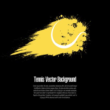 Grunge-Tennis-Hintergrund. Abstrakter Tennisball aus Flecken. Tennis-Design-Muster. Vektor-Illustration
