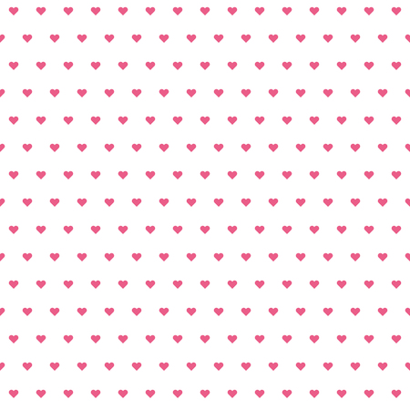 Hearts pattern. Valentine day background. Pink hearts on white background. Seamless texture. Vector illustration