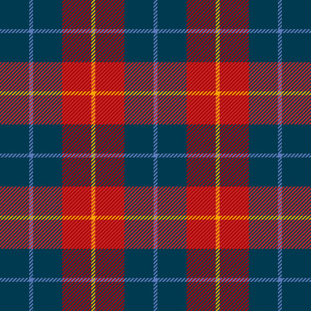 Tartan plaid. Scottish pattern in blue and red cage. Scottish cage. Traditional Scottish checkered background. Seamless fabric texture. Vector illustration Illustration