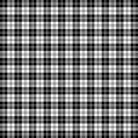 Plaid Erskine Tartan. Motif écossais en cage noir et blanc. Cage écossaise. Fond quadrillé écossais traditionnel. Texture de tissu sans couture. Illustration vectorielle Vecteurs