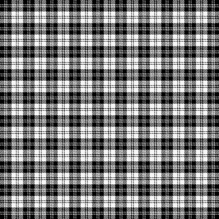 Erskine Tartan plaid. Scottish pattern in black and white cage. Scottish cage. Traditional Scottish checkered background. Seamless fabric texture. Vector illustration