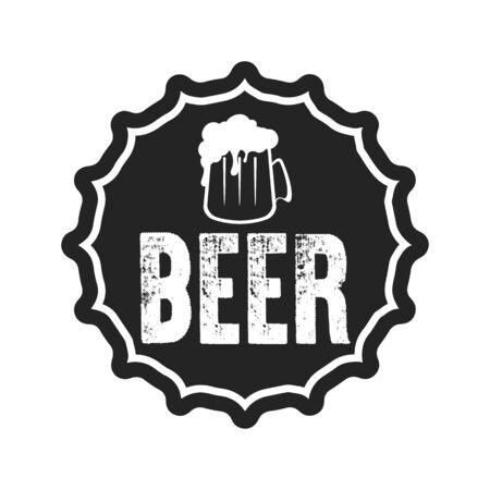 Beer typography. Beer logo template design. Grunge Style. Beer advertising. Vector  illustration