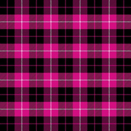 Tartan plaid. Scottish pattern in crimson and white cage. Scottish cage. Traditional Scottish checkered background. Seamless fabric texture. Vector illustration