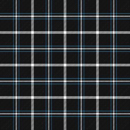 Tela escocesa de tartán. Patrón escocés en jaula azul y blanca. Jaula escocesa. Fondo a cuadros tradicional escocés. Textura de tela sin costuras. Ilustración vectorial Ilustración de vector