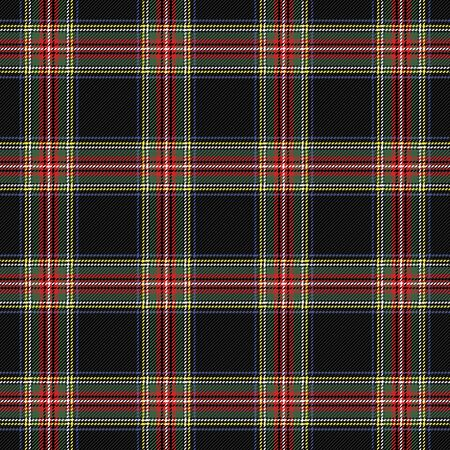 Tartan Stewart Royal  plaid. Scottish pattern in green, red and black cage. Scottish cage. Traditional Scottish checkered background. Seamless fabric texture. Vector illustration