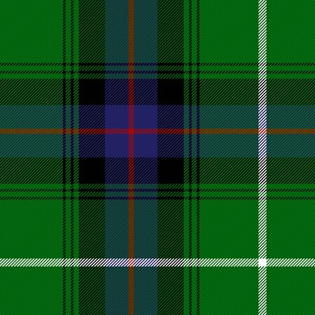 tartan plaid. Scottish pattern in green, black, blue and red cage. Scottish cage. Traditional Scottish checkered background. Seamless fabric texture. Vector illustration Stock fotó - 129267209
