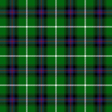 tartan plaid. Scottish pattern in green, black, blue and red cage. Scottish cage. Traditional Scottish checkered background. Seamless fabric texture. Vector illustration Çizim