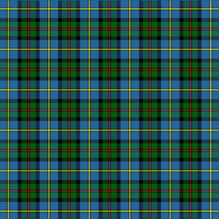 tartan plaid. Scottish pattern in green, black, yellow and red cage. Scottish cage. Traditional Scottish checkered background. Seamless fabric texture. Vector illustration Stock fotó - 129267239