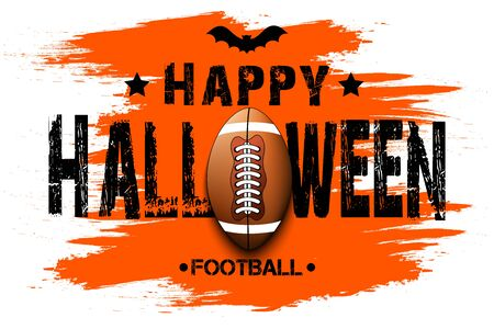 Halloween pattern. Happy halloween and football ball. Bowling template design. Design pattern for banner, poster, greeting card, flyer, party invitation. Vector illustration