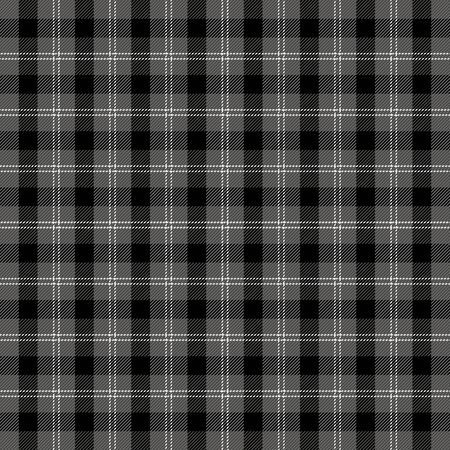 Halloween Tartan plaid. Scottish pattern in black, gray and white cage. Scottish cage. Traditional Scottish checkered background. Seamless fabric texture. Illusztráció