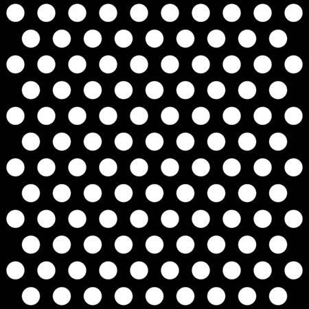 Halloween pattern polka dots. Template background in black and white polka dots. Seamless fabric texture.