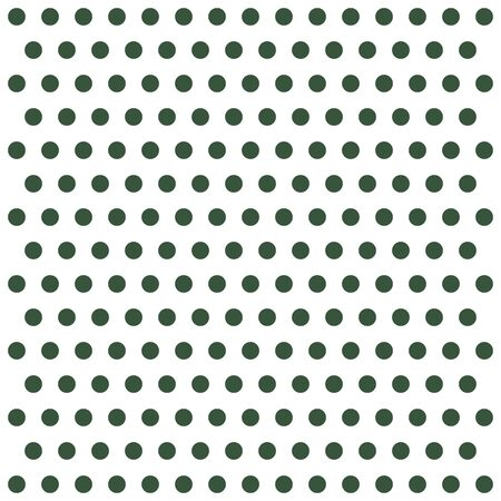 Christmas and new year pattern polka dots. Template background in green and white polka dots . Seamless fabric texture. Vector illustration