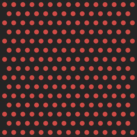 Christmas and new year pattern polka dots. Template background in red and black polka dots . Seamless fabric texture. Vector illustration