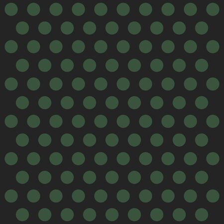 Christmas and new year pattern polka dots. Template background in green and black polka dots . Seamless fabric texture. Vector illustration
