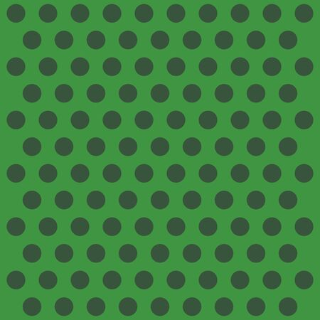 St. Patricks day pattern polka dots. Template background in green and black polka dots . Seamless fabric texture. Vector illustration Ilustrace