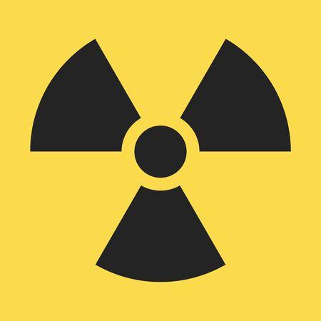 Radiaction symbol. Caution radioactive danger sign. Radiaction icon design template on isolated background. Radioactive contamination. Nuclear alert. Radiaction warning. Vector illustration