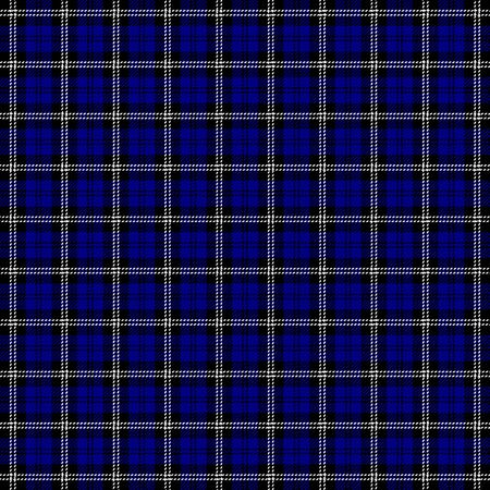 Tartan plaid. Scottish pattern in black, navy and white cage. Scottish cage. Traditional Scottish checkered background. Seamless fabric texture. Vector illustration