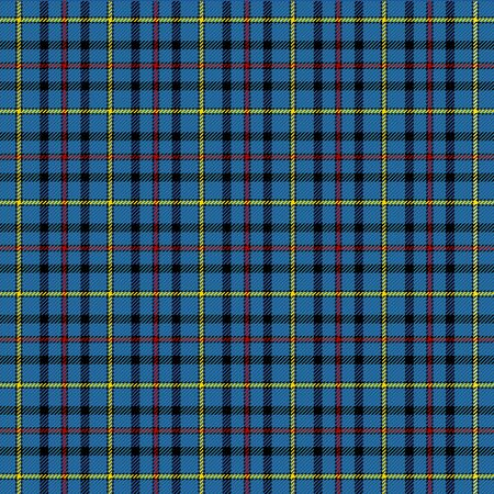 Tartan plaid. Scottish pattern in blue, red and yellow cage. Scottish cage. Traditional Scottish checkered background. Template for design ornament. Seamless fabric texture. Vector illustration Ilustração