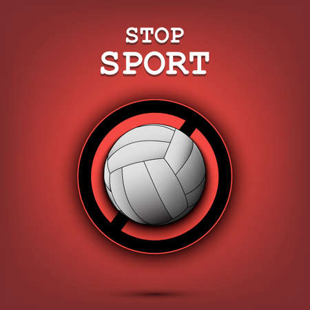 Sign stop with volleyball