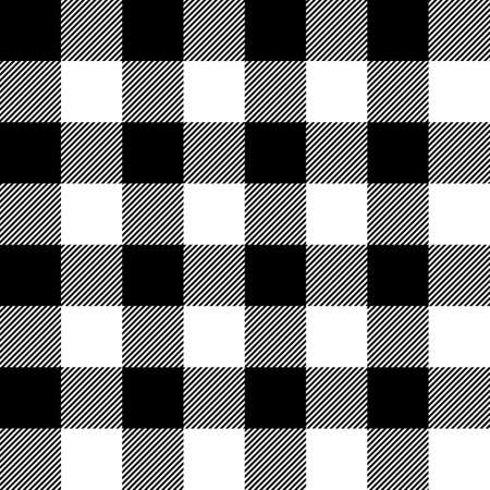 Tartan plaid. Scottish pattern in black and white cage. Scottish cage. Traditional Scottish checkered background. Seamless fabric texture. Vector illustration Vektoros illusztráció