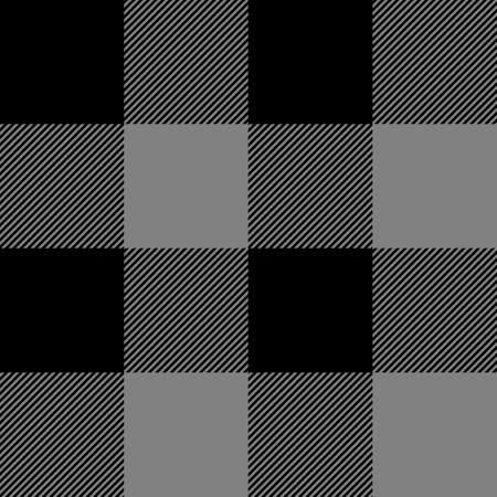 Tartan plaid. Scottish pattern in black and gray cage. Scottish cage. Traditional Scottish checkered background. Seamless fabric texture. Vector illustration Illustration