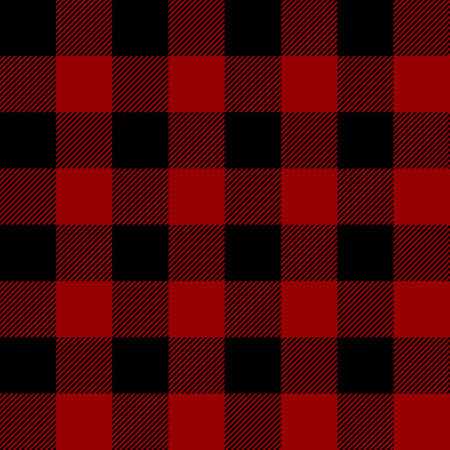 Tartan plaid. Scottish pattern in black and maroon cage. Scottish cage. Traditional Scottish checkered background. Seamless fabric texture. Vector illustration