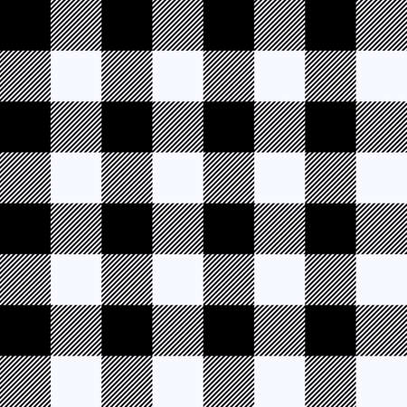 Tartan Ghost White plaid. Scottish pattern in black and white cage. Scottish cage. Traditional Scottish checkered background. Seamless fabric texture. Vector illustration