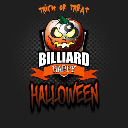 Happy Halloween. Template billiard design.
