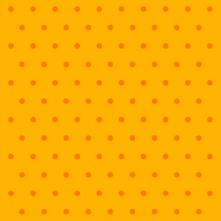 Halloween pattern polka dots. Template background in yellow and orange polka dots . Seamless fabric texture. Vector illustration