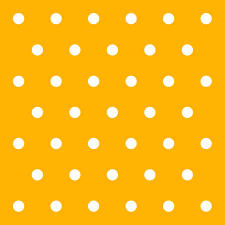Halloween pattern polka dots. Template background in yellow and white polka dots . Seamless fabric texture. Vector illustration 向量圖像