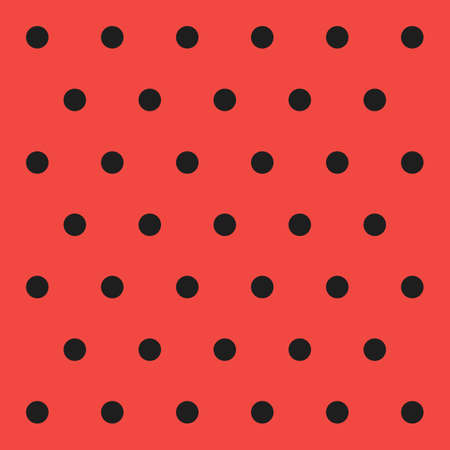 Christmas and new year pattern polka dots. Template background in black and red polka dots . Seamless fabric texture. Vector illustration