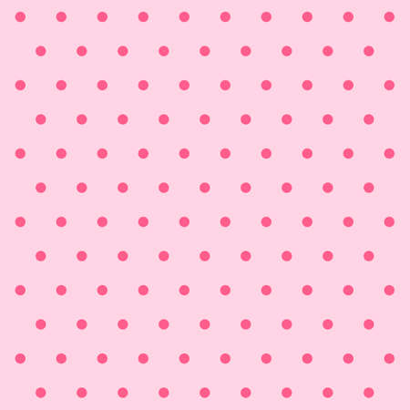 Valentines day pattern polka dots. Template background in pink and red polka dots. Seamless fabric texture. Vector illustration