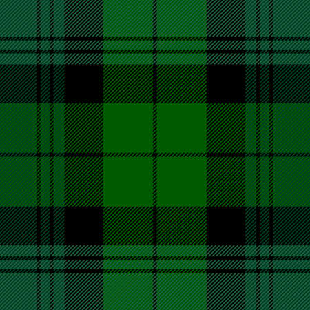 Tartan plaid. Scottish pattern in red, green and black cage. Scottish cage. Traditional Scottish checkered background. Seamless fabric texture. Vector illustration