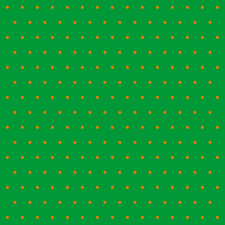 St. Patricks day pattern polka dots. Template background in green and orange polka dots. Seamless fabric texture. Vector illustration