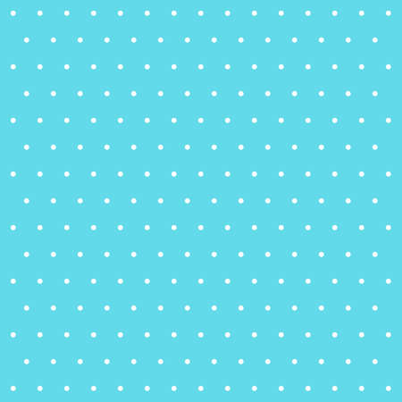 Easter pattern polka dots. Template background in blue and white polka dots. Seamless fabric texture. Vector illustration