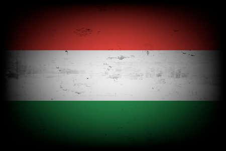 National flag of Hungary. Vintage background. Grunge texture. Banner design pattern. Vector illustration