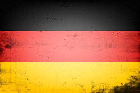 National flag of Germany. Vintage background. Grunge texture. Banner design pattern. Vector illustration