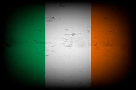 National flag of Ireland. Vintage background. Grunge texture. Banner design pattern. Vector illustration