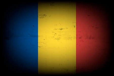 National flag of Romania. Vintage background. Grunge texture. Banner design pattern. Vector illustration 矢量图像